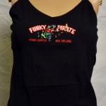 Funky Pirate Bra-Shelf Black Tank Top